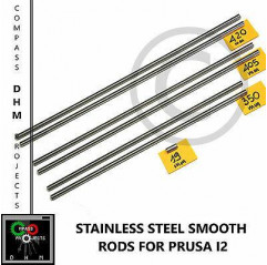 Guide lisce inox Prusa i2 barre lisce 8 mm stainless steel rods Reprap 3Dprinter