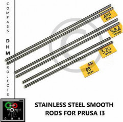 Guide lisce inox Prusa i3 barre lisce 8 mm stainless steel rods Reprap 3Dprinter