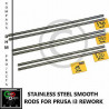 Guide lisce inox Prusa i3 Rework 8 mm stainless steel rods Reprap 3D printer Stampa 3D