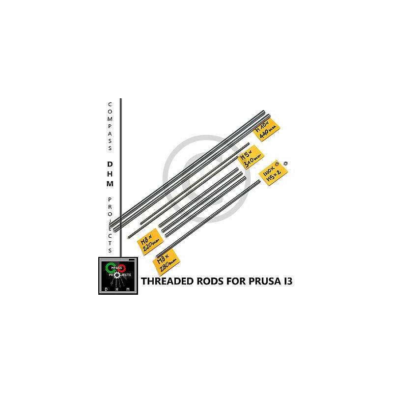Barre filettate Prusa i3 - stainless steel threaded rods M5/8/10 - Reprap 3D Stampa 3D
