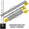 Barre filettate Prusa i3 Rework - stainless steel threaded rods M5/10- Reprap 3D Stampa 3D