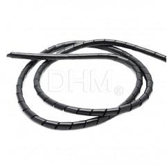Spirale flessibile portacavi Ø 6 mm nera bobina 15 m ca