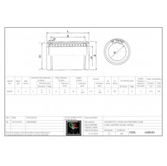 Linearlager LM8UU Linearbuchsen geschlossen 04050105 DHM