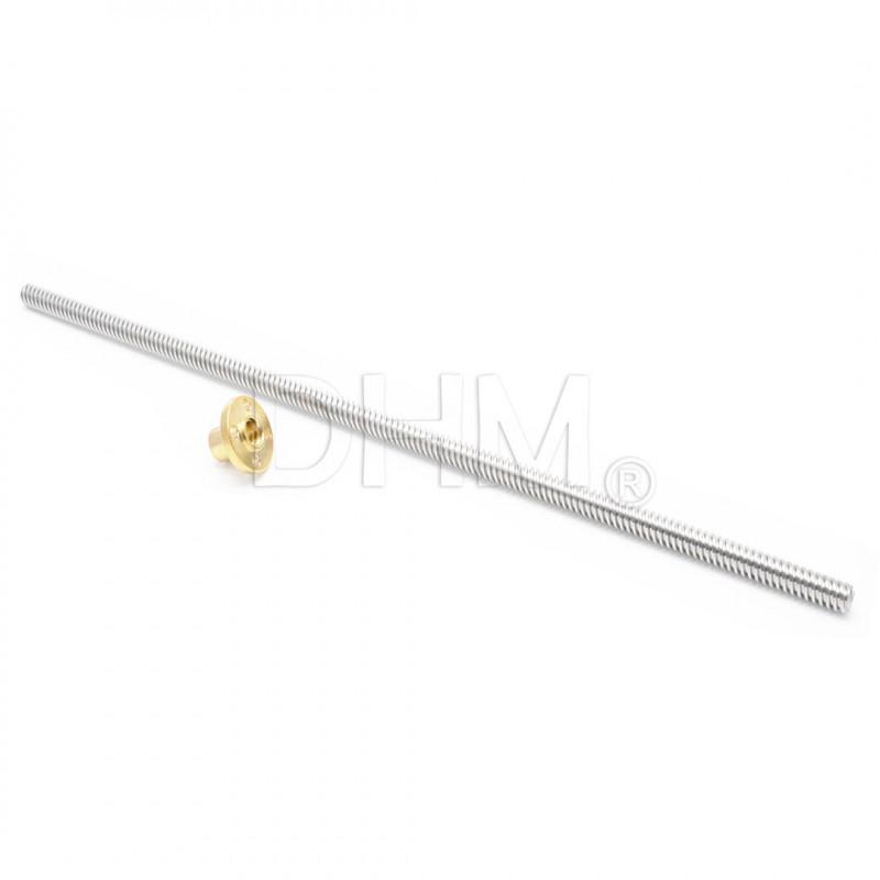 Präzisions-Trapezgewindespindel TR8 pitch 2mm - 4 principles 100cm Trapezschrauben T8 05050105 DHM