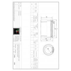 Linearlager LM3 Linearbuchsen geschlossen 04050101 DHM