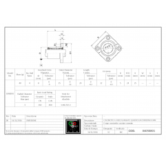 Mit quadratischem Flansch LMK8UU Lineare Buchsen mit Vierkantflansch 04050801 DHM