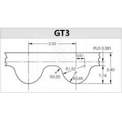 Zahnriemen 3GT Neopren H 6mm Zahnriemen GT3 05020401 DHM