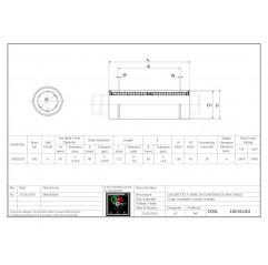 Cuscinetto lineare LM30LUU Linearbuchsen geschlossen 04050208 DHM