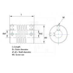 Wellenkupplung DB flexibel 5*10 mm Flexible Gelenke 05040104 DHM