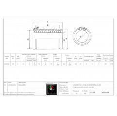 Linearlager LM25UU Linearbuchsen geschlossen 04050110 DHM