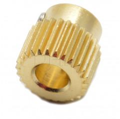 Messinggetriebe Ø5 mm 40 Zähne Trascinafilo ottone 10070301 DHM