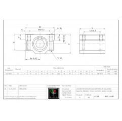 Linearlager mit Aluminumgehäuse SC16UU Lineare Buchsen mit geschlossener Gehäuseeinheit 04060105 DHM