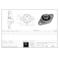 Flanschlager Aluminium Druckguss KFL000 Kugellagereinheit mit Halterung 04030202 DHM