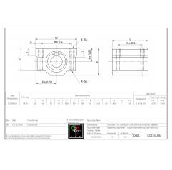 Linearlager mit Aluminumgehäuse in langer Ausführung SC30LUU Lineare Buchsen mit geschlossener Gehäuseeinheit 04060208 DHM