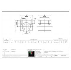 Linearlager offen SBR12UU Lineare Buchsen mit offener Gehäuseeinheit 04060303 DHM