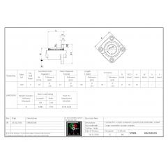 Mit quadratischem Flansch, lang LMK20LUU Lineare Buchsen mit Vierkantflansch 04050905 DHM