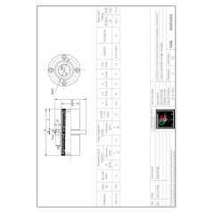 Linearlager mit rundem Flansch - Flansch mittig LMFC12UU Linearbuchsen mit Rundflansch 04051003 DHM