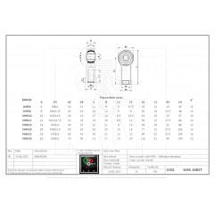 Gelenkkopf Gelenkauge Rod-End Innengewinde - Serie NHS - NHS14 Endlager und Kugelgelenke 04070102 DHM