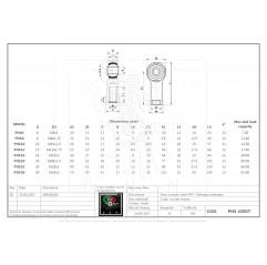Gelenkkopf Gelenkauge Rod-End Innengewinde - Serie PHS - PHS14 F Endlager und Kugelgelenke 04070203 DHM