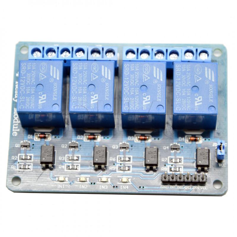 Relaismodul 4 channels 12V DC - 250V AC model SRD-12VDC-SL-C Relè 09050208 DHM